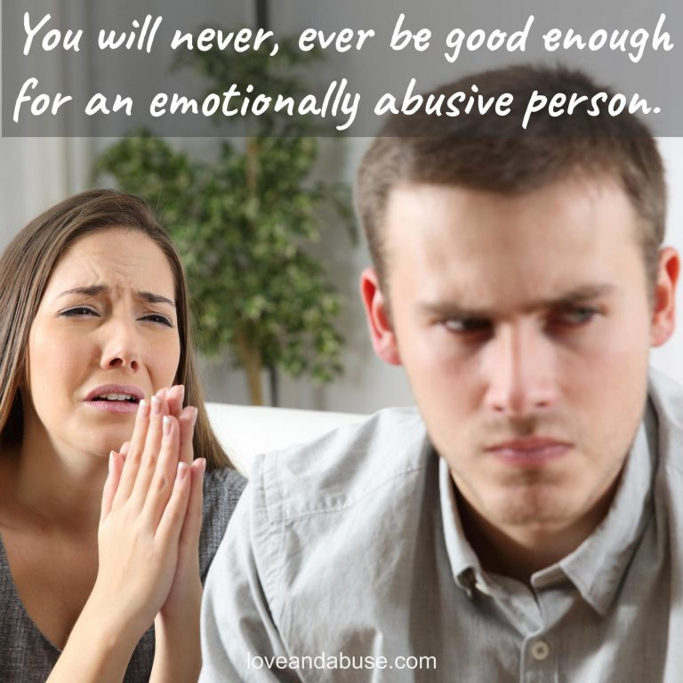 Should you try harder to please the emotionally abusive person?